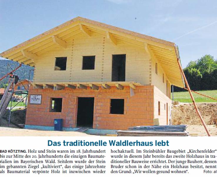 Das traditionelle Waldlerhaus lebt