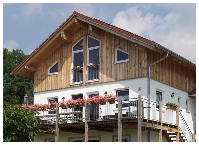 Rahmenhaus von Moser Holzbau | Außenansicht