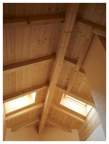 Rahmenhaus von Moser Holzbau | Innennansicht