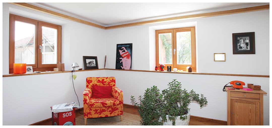 Blockhaus Sanierung und Umbau von Moser Holzbau | Innenraum