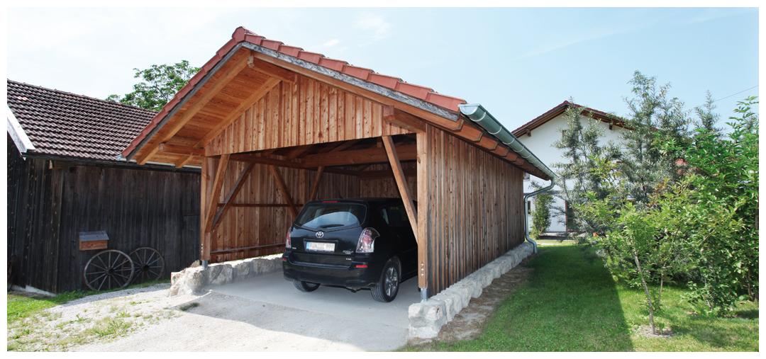 Saniertes und umgebautes Carport aus Holz von Moser Holzbau