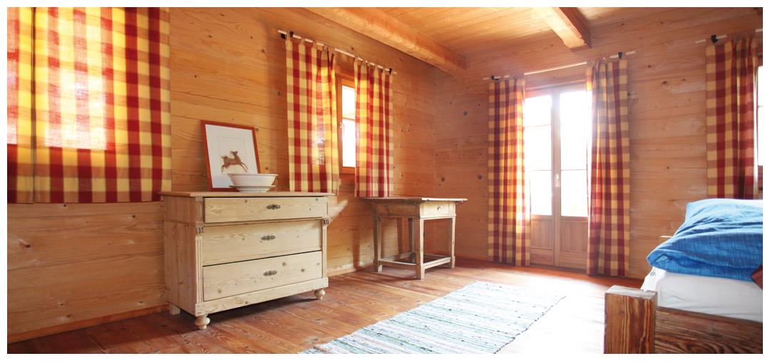 Moser Holzbau Blockhaus Schlafzimmer