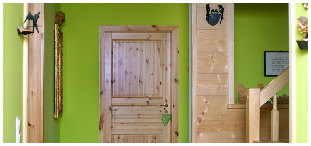 Moser Holzbau Blockhaus Tür | Innenraum