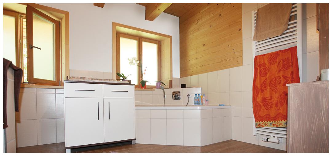 Moser Holzbau Blockhaus Haus Referenz Innenraum