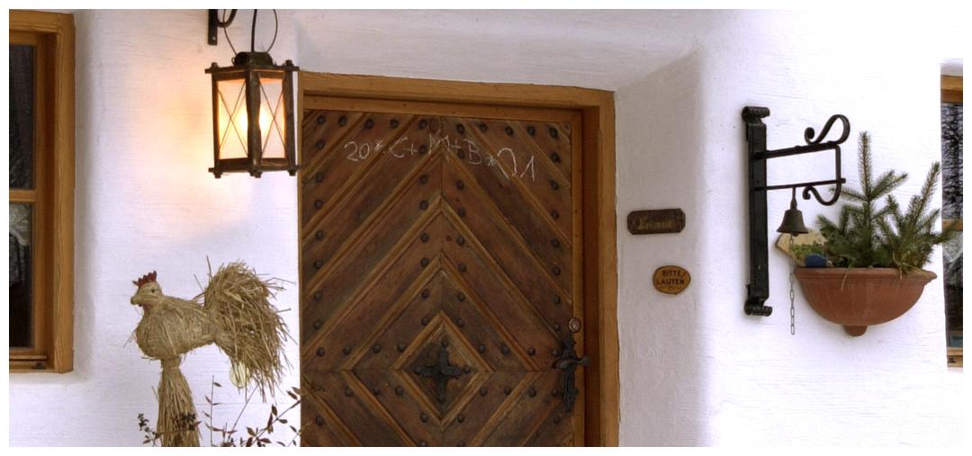 Moser Holzbau Blockhaus Eingangstür