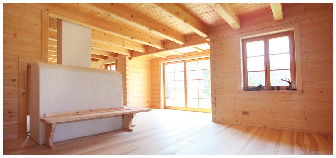Moser Holzbau Blockhaus | Innenansicht