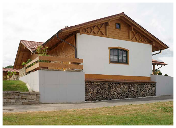 Moser Holzbau Blockhaus   Außenansicht