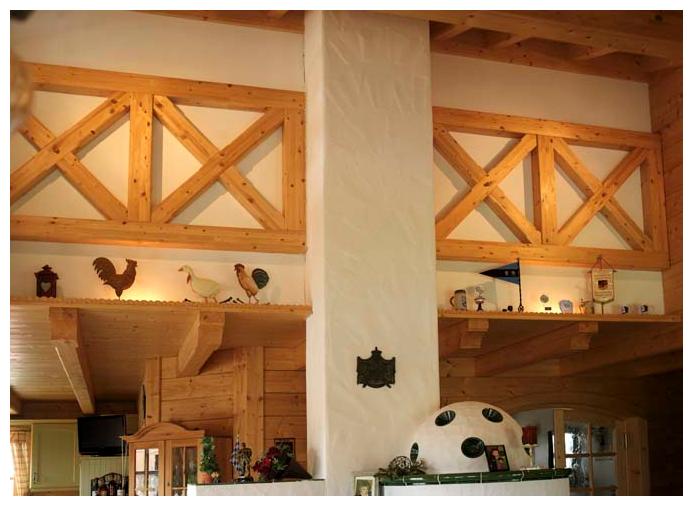 Moser Holzbau Blockhaus Ofen