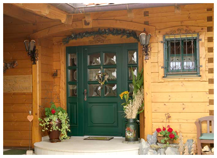 Moser Holzbau Blockhaus Haustür