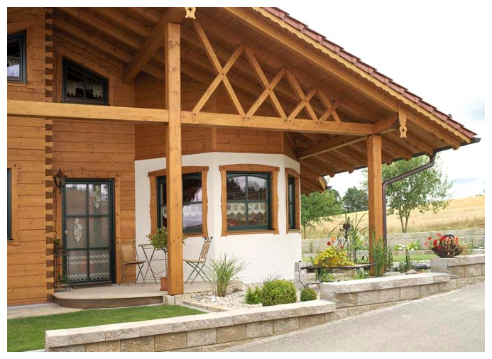 Moser Holzbau Blockhaus Fassade