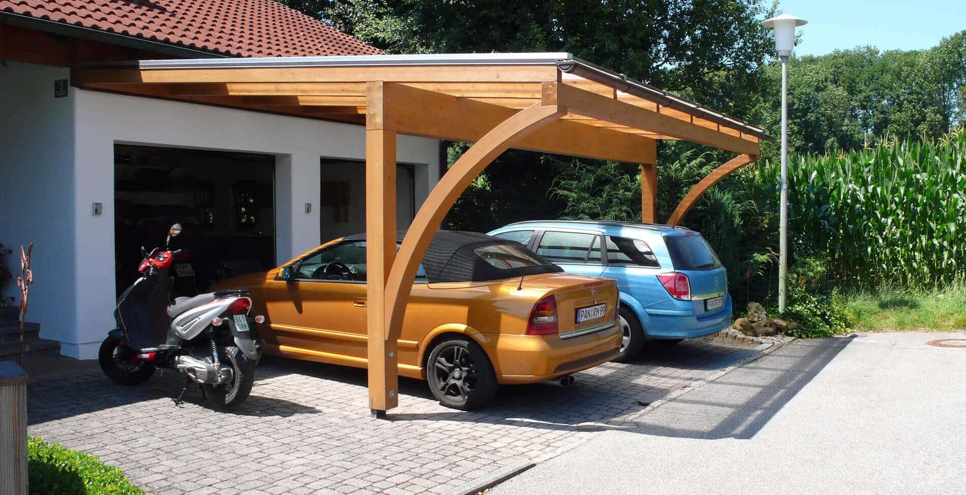 Holzgarage-Slider