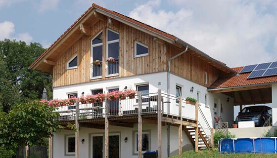 Rahmenbau und Terrassenkonstruktion von Moser Holzbau